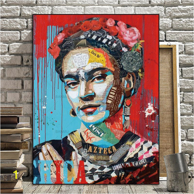 picture prints artist frida kahlo on canvas home decor canvas regarding frida kahlo wall art of frida kahlo wall art