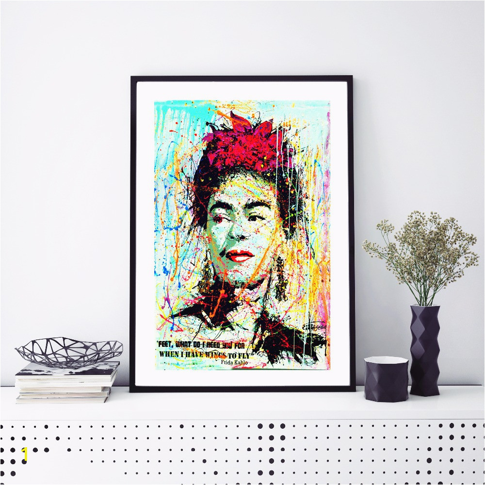 frida kahlo aquarell portrait leinwand kunstdruck malerei poster within frida kahlo wall art of frida kahlo wall art
