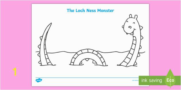 t t 4329 loch ness monster colouring sheet ver 1