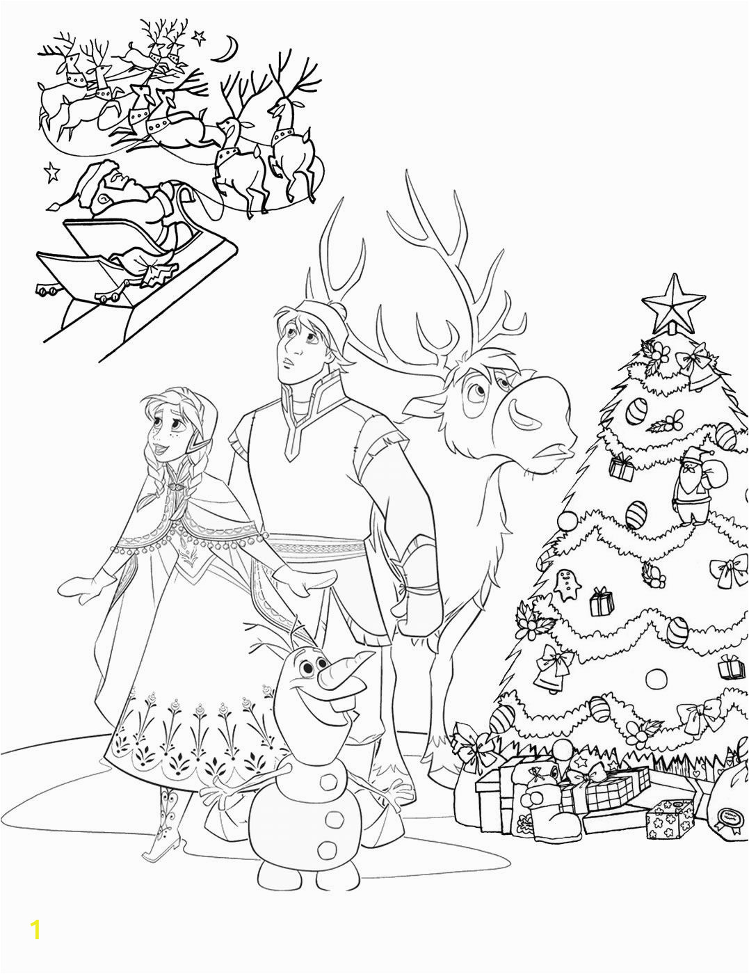 Frozen Christmas Coloring Pages Frozen Christmas Coloring Pages