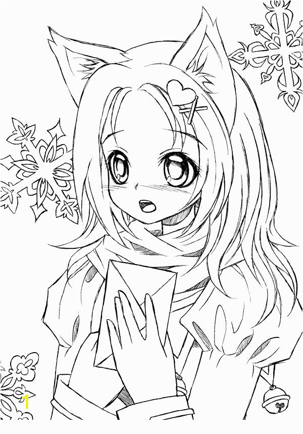Gacha Life Coloring Pages Anime Black and White
