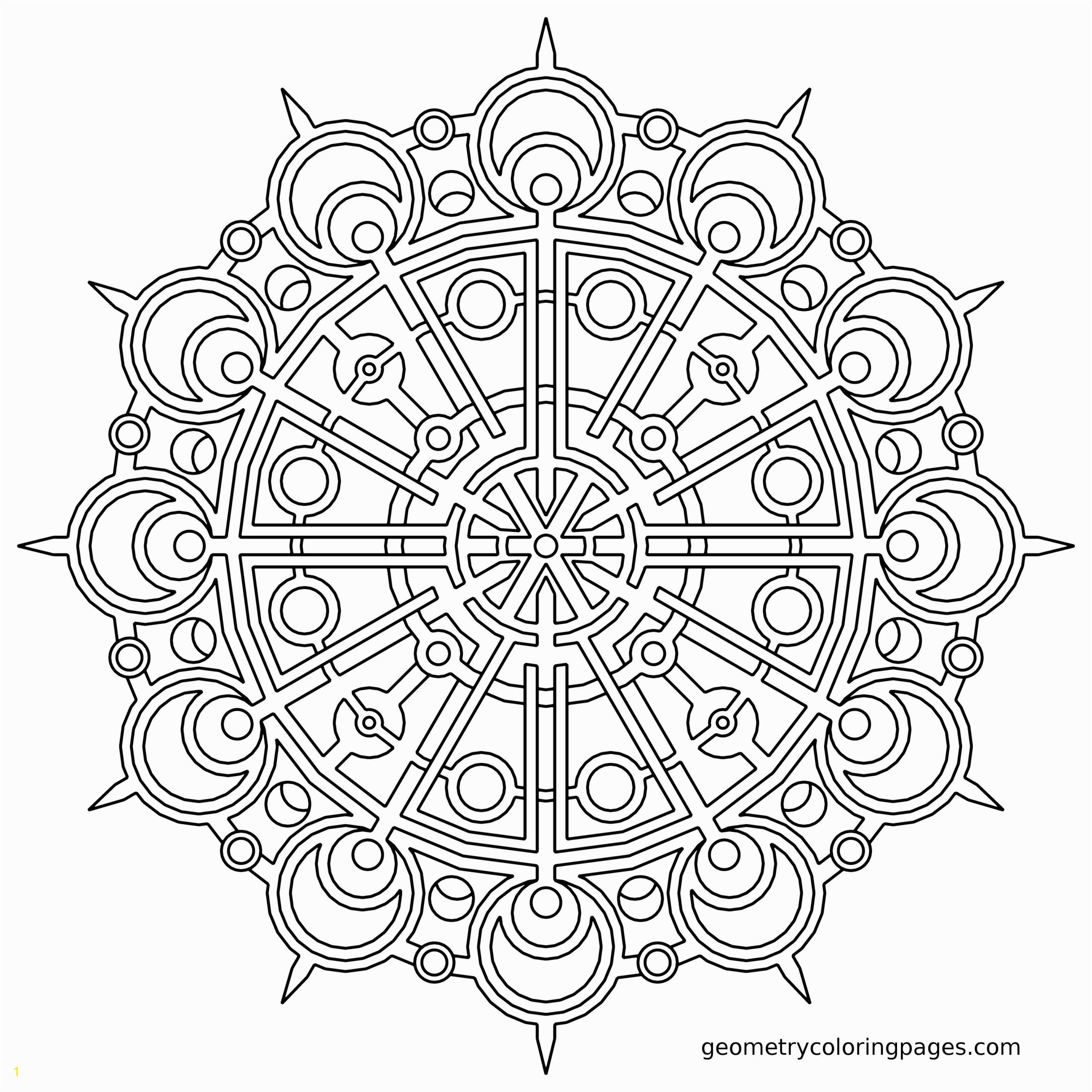 Geometric Mandala Coloring Pages Mandala Coloring Page Coordinator From