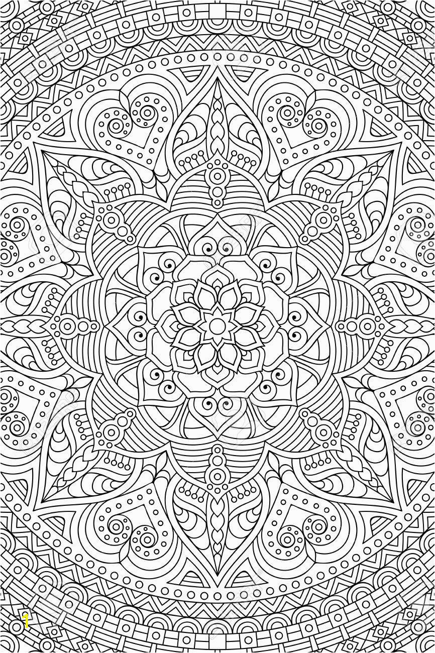 ornament beautiful card with mandala geometric circle element made in vector coloring page