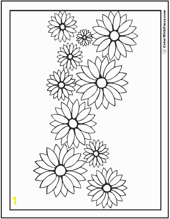 gerber daisy coloring pages 11