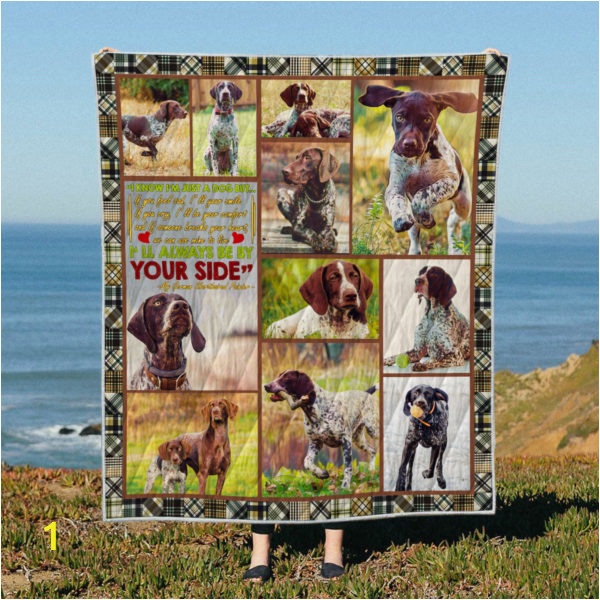 35soi10 quilt BE BY YOUR SIDE German Shorthaired Pointernner 600x600