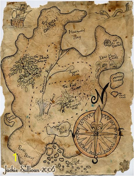 Giant Treasure Map Wall Decoration Mural Pirate Treasure Map