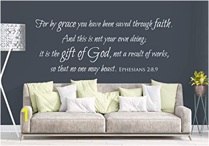 Giant Wall Mural Decals Amazon Vinyl Wall Decal Ephesians 2 8 9 for by Grace