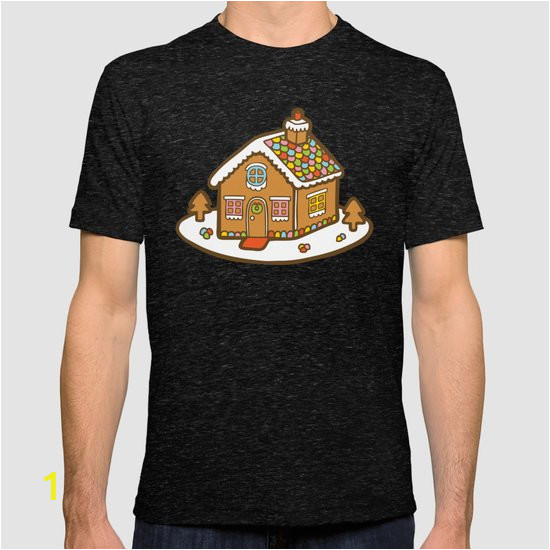 gingerbread house pattern christmas day tshirts