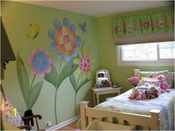 Girl Room Mural Wall Flower Girls Room Mural Ideas Painting Inspiration