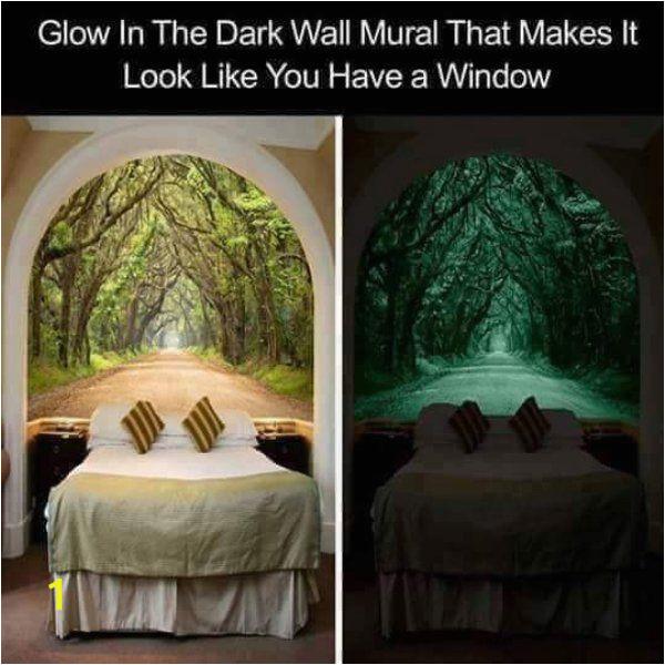 Glow In the Dark Wall Mural Window I Want Thaaaat 40 S