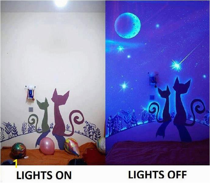 Glowing Murals for Walls Glow In the Dark Paint Wall Murals