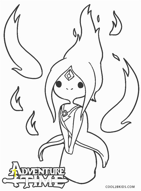 Adventure Time Coloring Pages Flame Princess