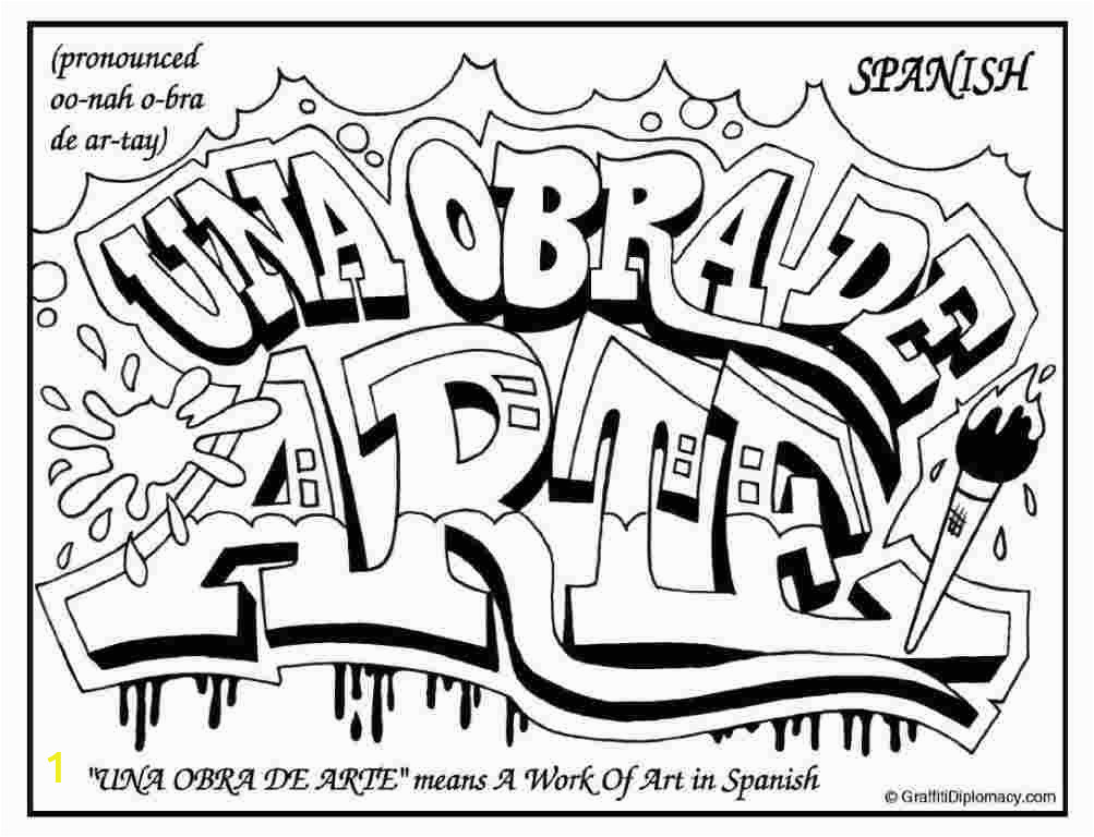 simple graffiti coloring pages graffiti coloring pages for teens and adults best pages simple coloring graffiti