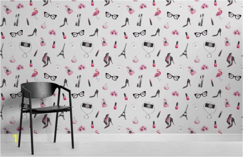 Fashion Illustration Wallpaper Mural Room 825x535