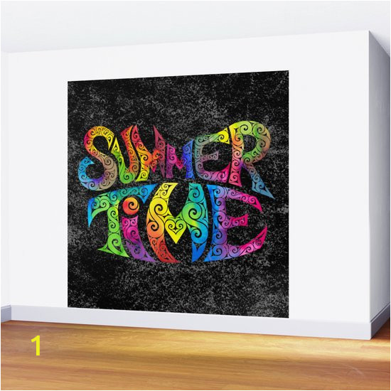 summer time wall murals