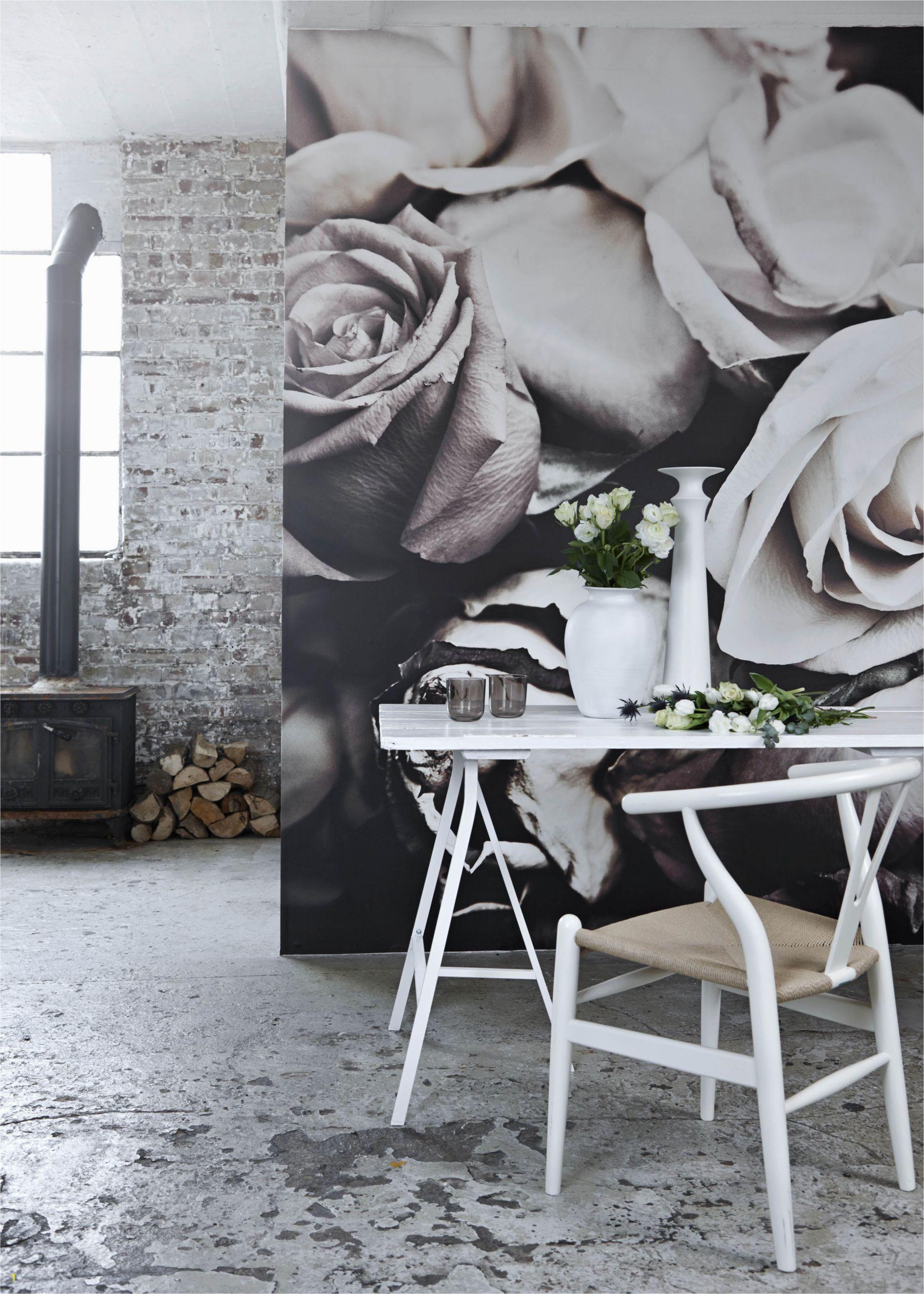 Grey Petals Wall Mural Roses I Mural by Patric Shaw
