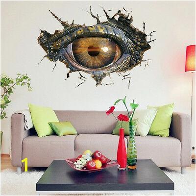 3D Big Dinosaurs eye Wall Sticker Decal Art