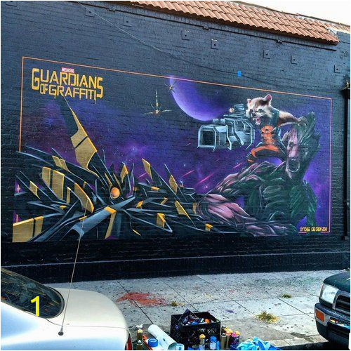 Guardians Of the Galaxy Wall Mural Guardians Of Graffiti Dytch66 Guardian Of the Galaxy