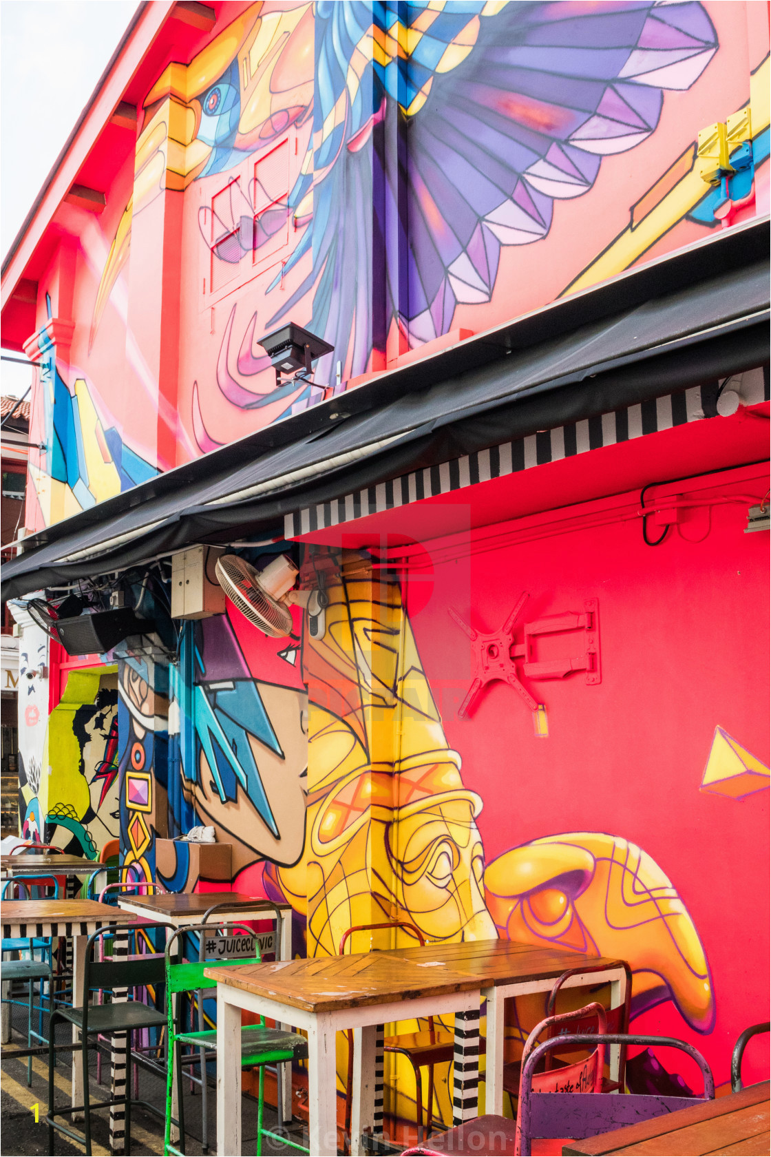 Haji Lane Wall Murals Haji Lane Wall Murals License or Print for £6 20