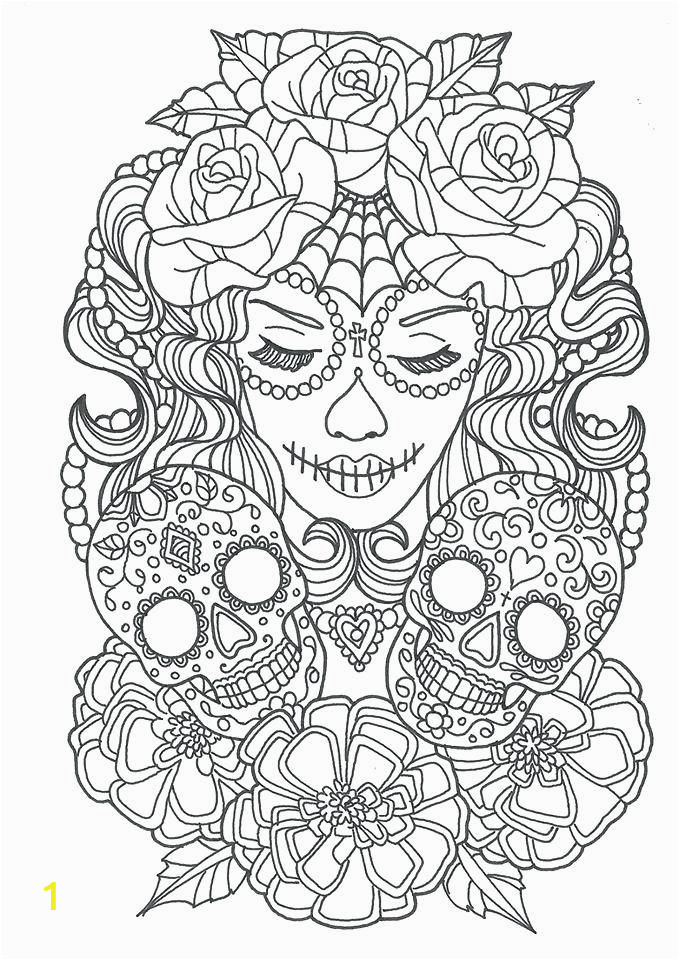 Halloween Horror Coloring Pages Cool Sugar Skull Coloring Pages Ideas