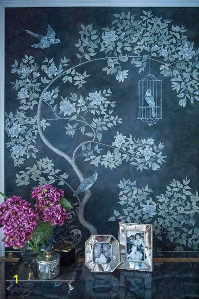 Hand Painted Flower Wall Mural This Floral Wall Panel Mural Was Hand Painted In Various