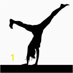 Hand Painted Wall Murals with Gymnastics Silhouettes Hand Painted Wall Murals with Gymnastics Silhouettes