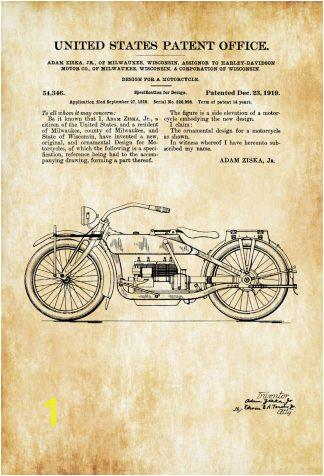 harley davidson design patent 1919 patent print wall decor motorcycle decor harley davidson art harley patent harley bike 58a2e6091 324x476