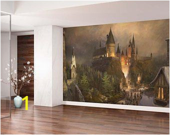Harry Potter Wall Mural Wallpaper Hogwarts Tapete Etsy De