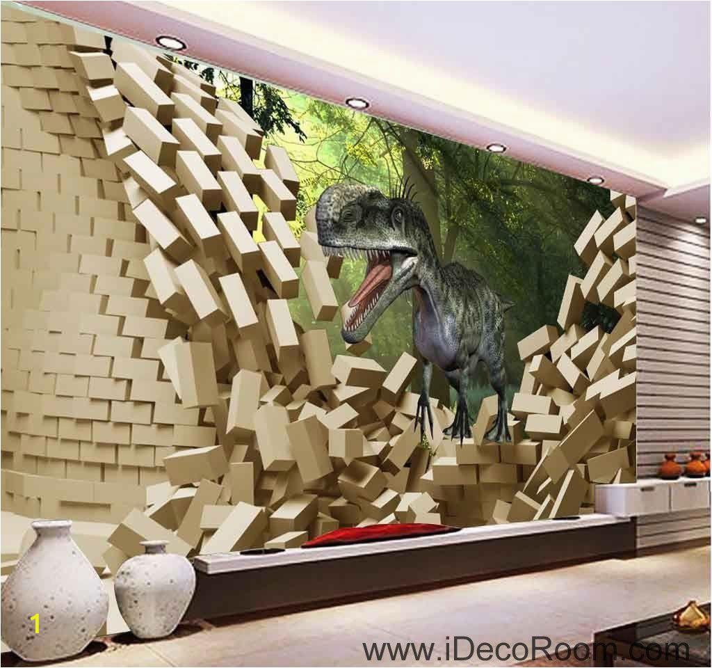 Haunted House Wall Mural 3d Dinosaur Break Wall Tree Wallpaper Wall Art Print Mural