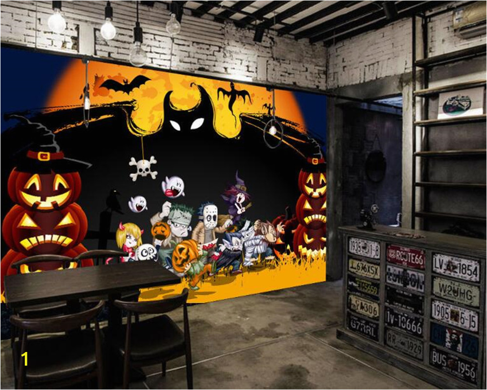 Haunted House Wall Mural Us $8 85 Off Beibehang Behang Custom Papel De Parede Art Mysterious Horror Halloween Haunted House Custom Ktv Background Wallpaper In