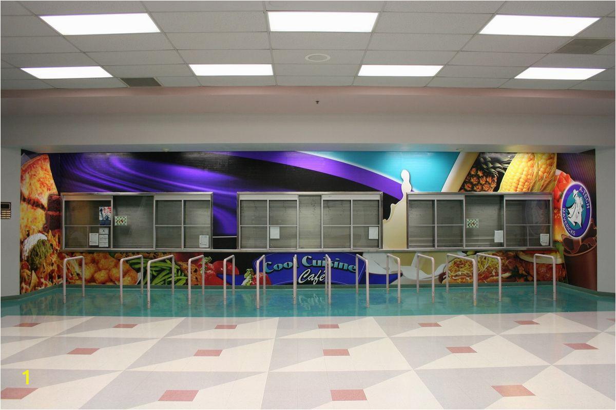 High School Wall Murals School Cafeteria Walls