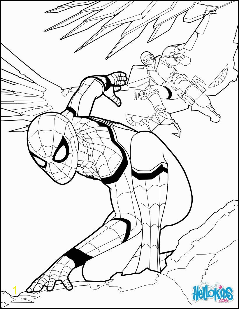Homecoming Spiderman Coloring Pages Spiderman Coloring Page From the New Spiderman Movie
