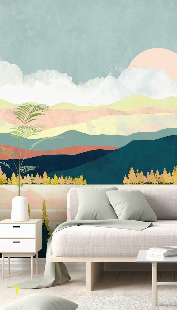 How to Design A Wall Mural Stunning Lake forest Wall Mural by Spacefrog Designs This