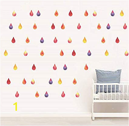 How to Hang A Wall Mural Poster Amazon Zfwsbhd Diy Colorful Raindrop Wall Sticker