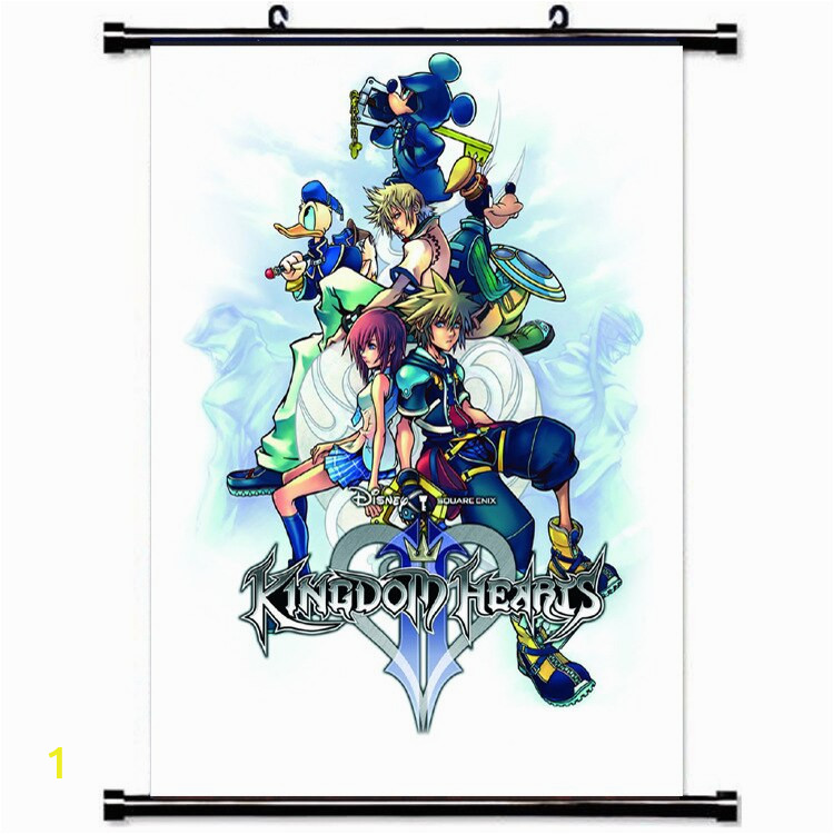 Kingdom Hearts Wall Scroll Mural Poster Wall Hanging Poster Otaku Home Decor Collect Gift