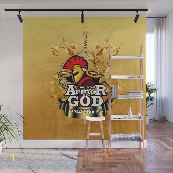 put on the full armor of god ephesians 611 wall murals