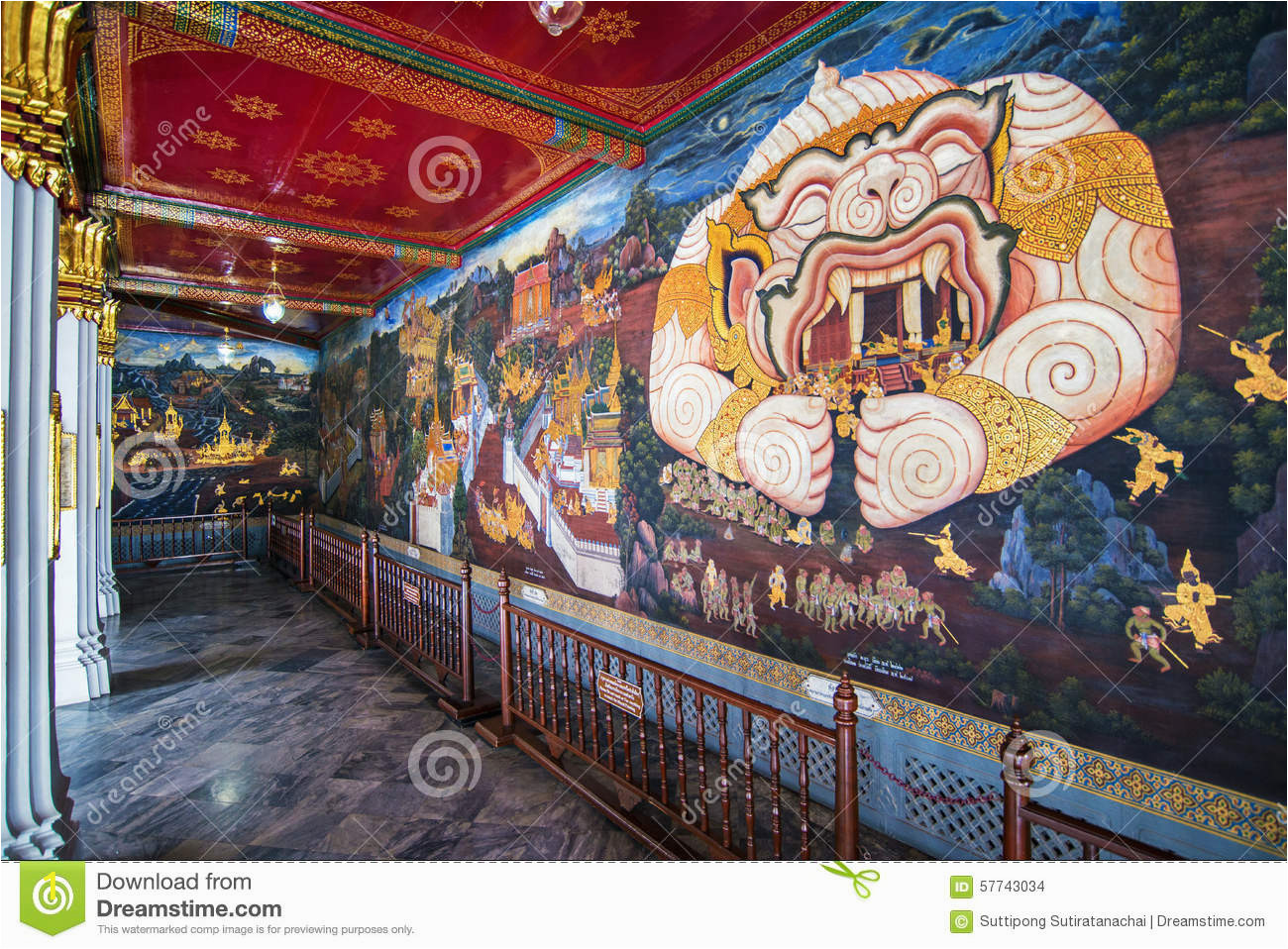 How to Mural Painting Wall Thai Mural Painting at Wat Phra Kaew Stock Image Of
