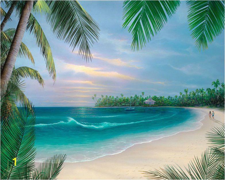 How to Paint A Beach Wall Mural Hawaiian Beach Promenade Cross Stitch Pat Tropical Tbb