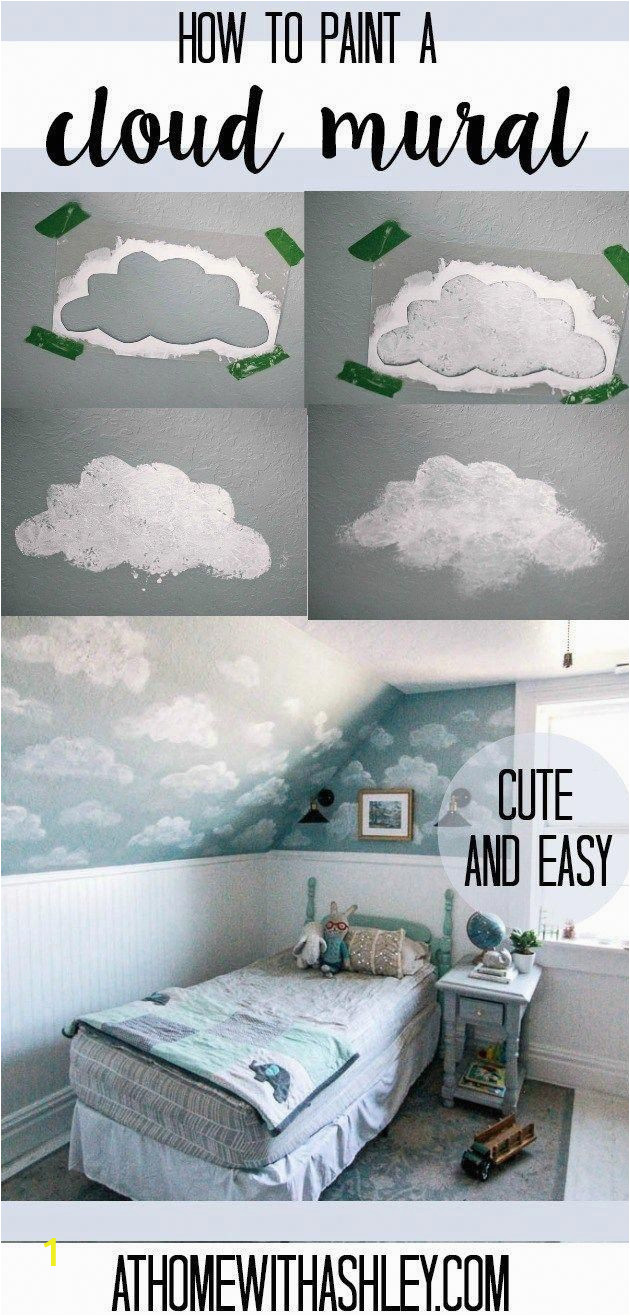 How to Paint A Wall Mural Step by Step How to Paint A Cloud Mural Diy This Would Be Beautiful In A