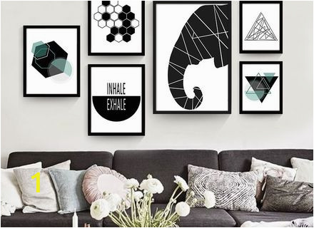 geometric abstract painting on the wall canvas poster decorative canvas abstract wall murals s d5dc