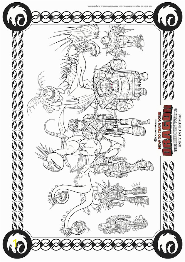 How to Train Your Dragon Hidden World Coloring Sheet 630x891