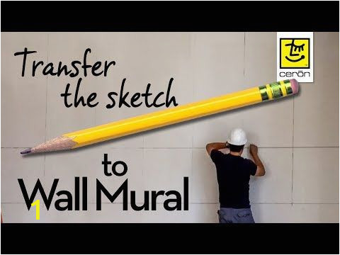 How to Transfer Mural On Wall 229 How to Transfer Sketch to Wall Mural Making the Grid