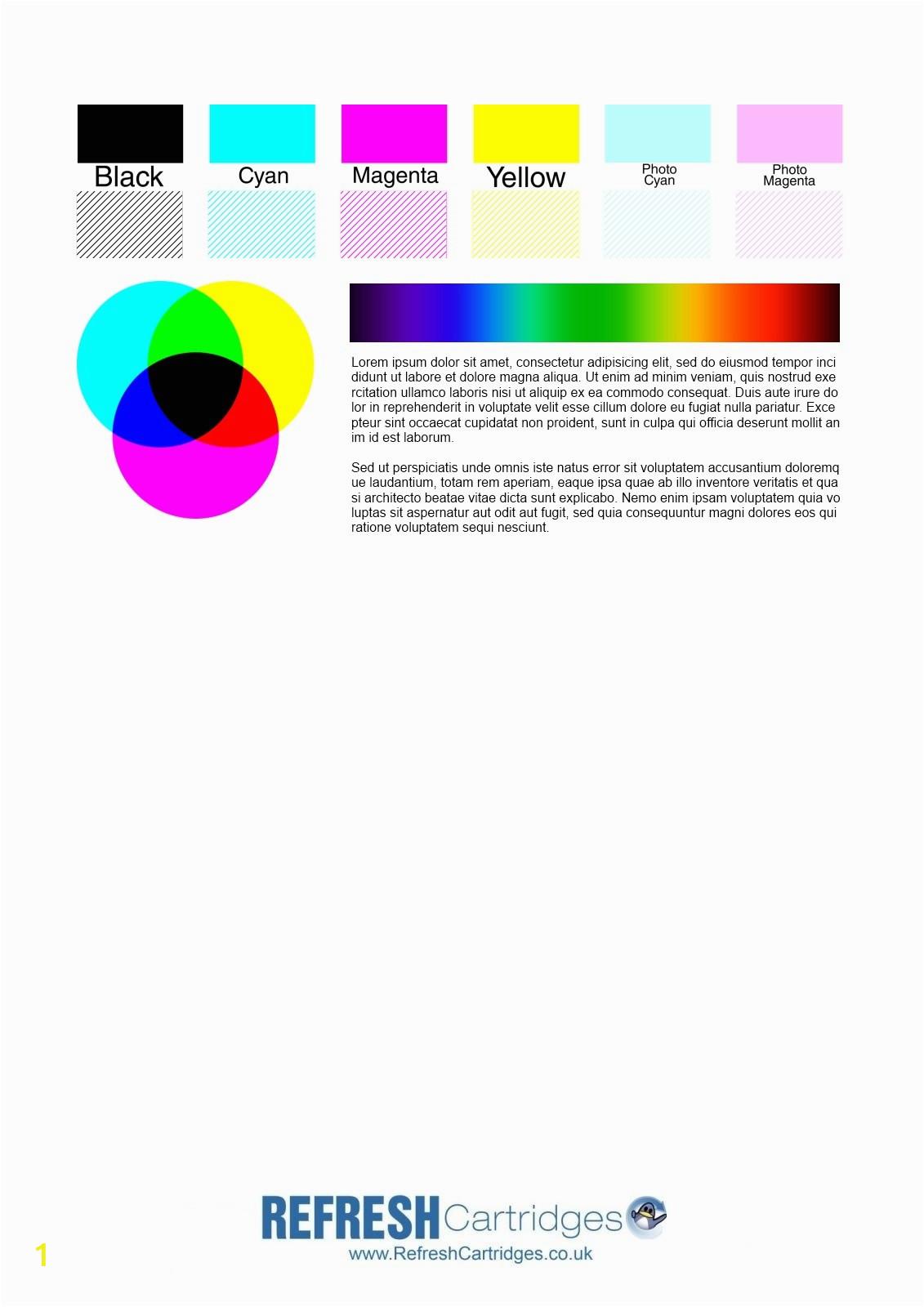 Inkjet Test Page 2