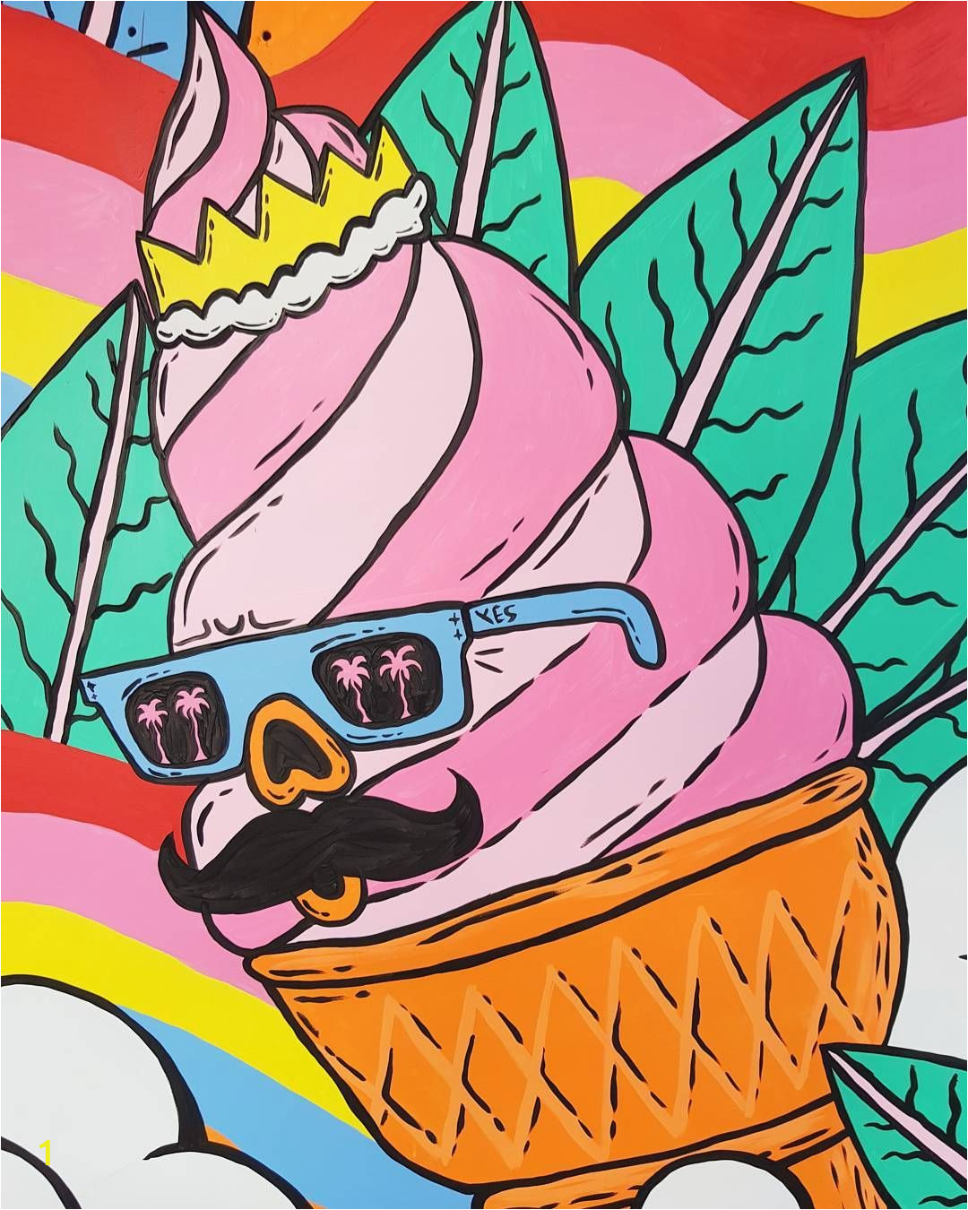 Ice Cream Wall Mural Gelato John From My soon to Be Finished Mural at