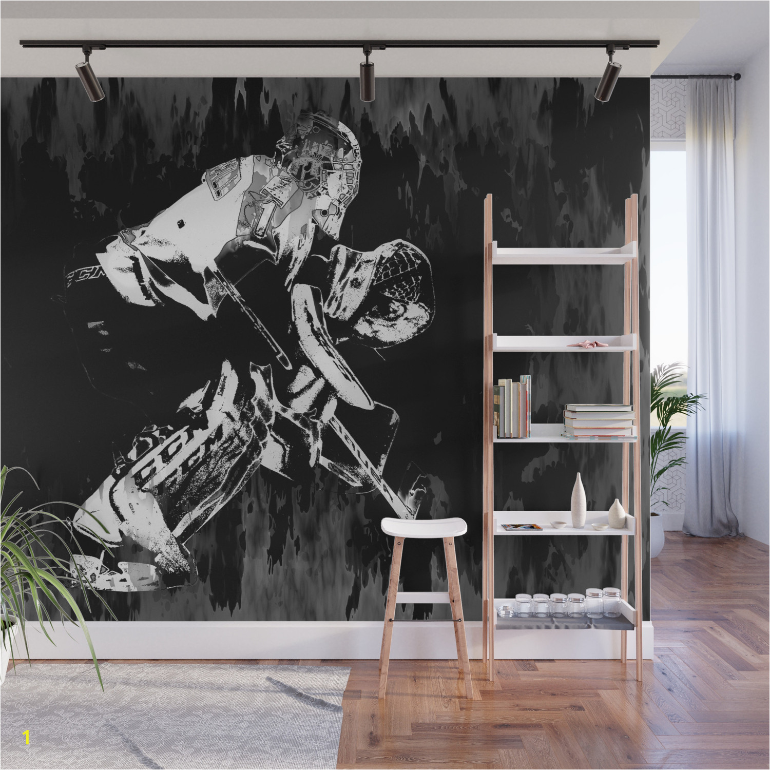 ice hockey goalie wall murals