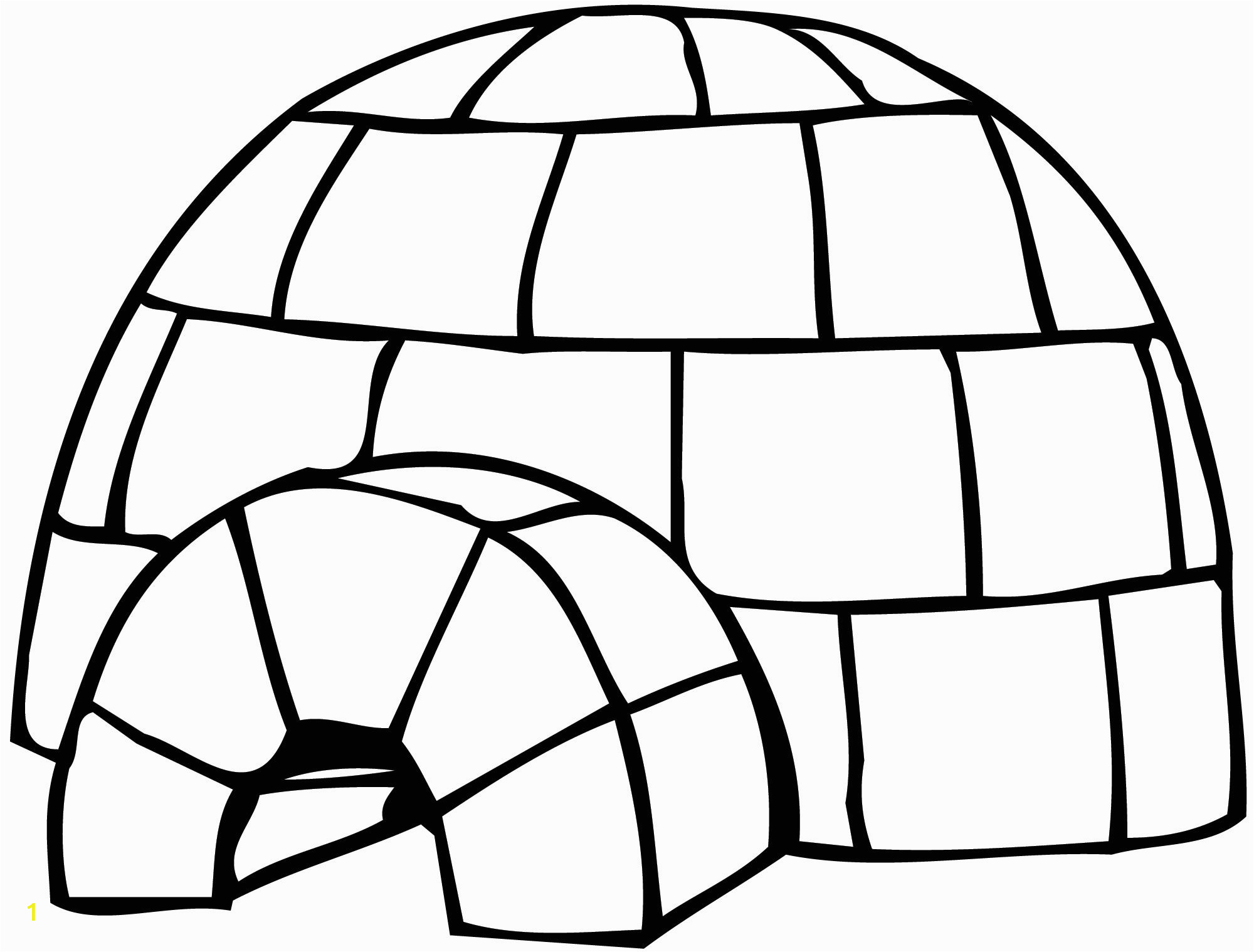 Igloo Printable Coloring Page Best Igloo Clipart Clipartion