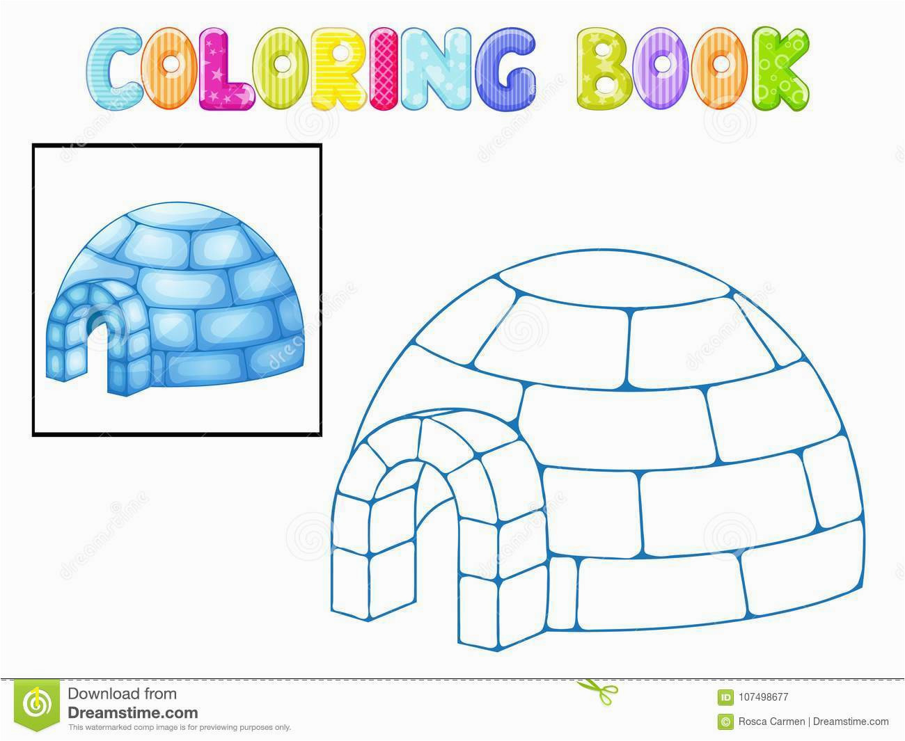 coloring igloo coloring igloo white background
