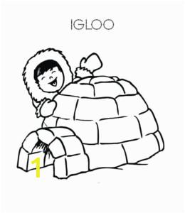 eskimo igloo coloring page 04 260x300