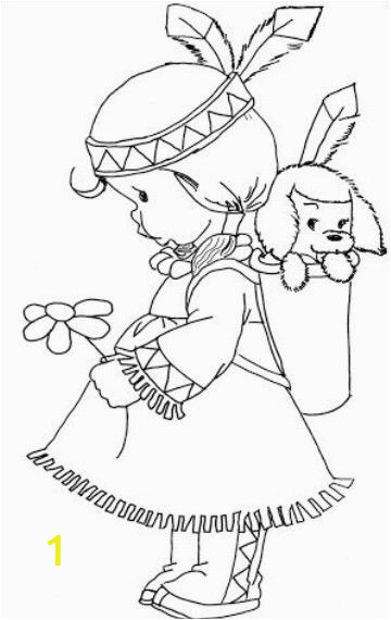 Indians Coloring Pages for Kids Indian Girl