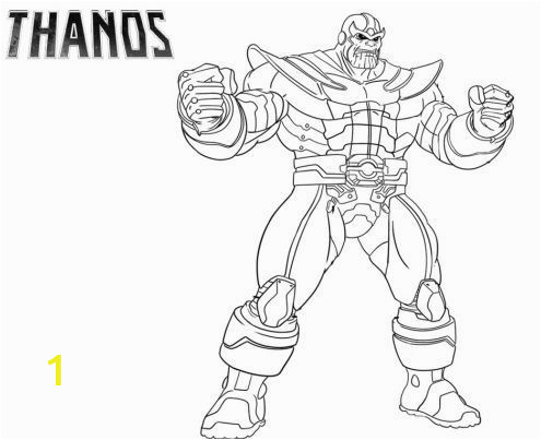Infinity Gauntlet Thanos Coloring Pages